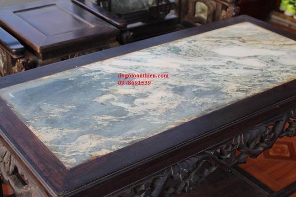 Bộ ghế vách tàu gỗ trắc đục dáng cổng thành