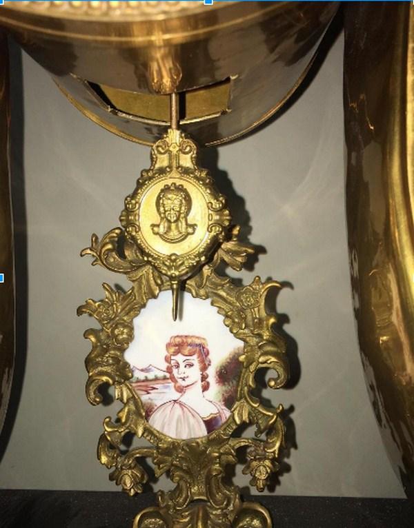 Đồng hồ Pháp cao 1m2 mạ vàng