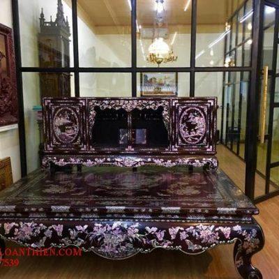 Tủ chè gỗ gụ khảm liên chi