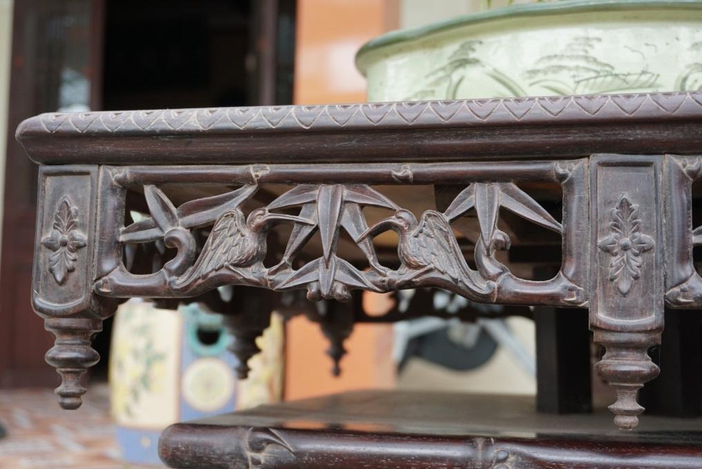 đôn gỗ trắc đục trúc