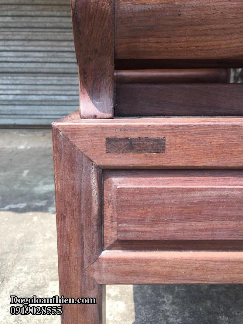 Giường phương lười gỗ cẩm lai