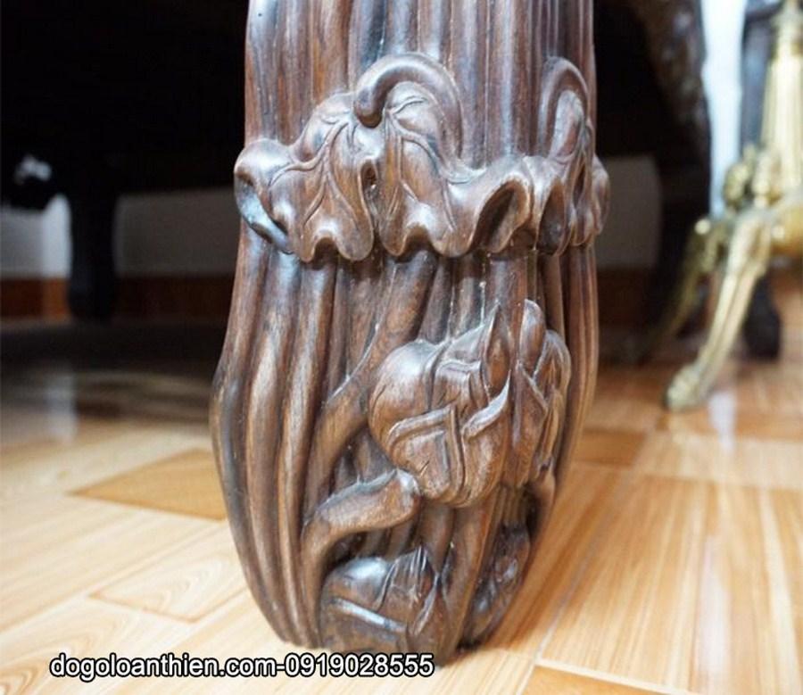 Sập ba thành sen vịt gỗ cẩm lai