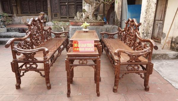 Bộ trường kỷ đẹp gỗ gụ Quảng Bình